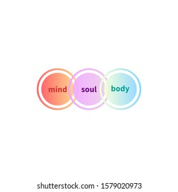 Mind, soul and body balance, holistic icon, mental health logo, vector illustration