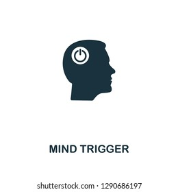 Mind Trigger icon. Premium style design from personality collection. Pixel perfect mind trigger icon for web design, apps, software, printing usage.