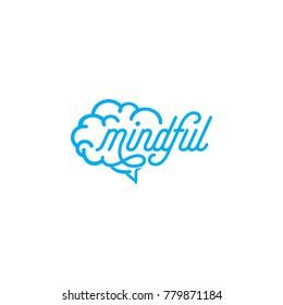 mindful logo concept