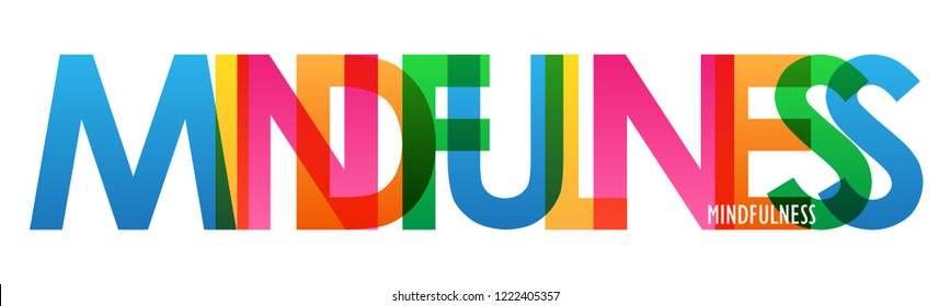 MINDFULNESS colorful letters banner