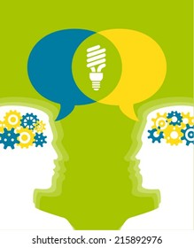 Minds bright sharing Ideas Ecological