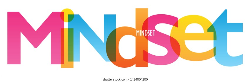 MINDSET colorful vector concept word typography banner
