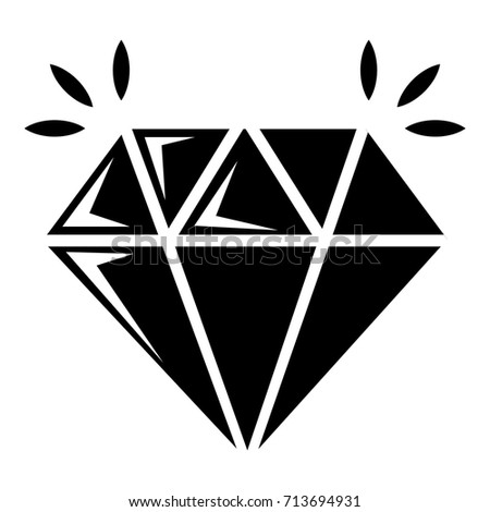 Mine Diamond Icon Simple Illustration Mine Stock Vector (Royalty Free) 713694931 ...