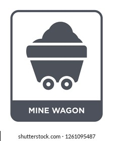 mine wagon icon vector on white background, mine wagon trendy filled icons from Desert collection, mine wagon simple element illustration