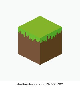 Minecraft icon. Vector illustration. EPS 10.