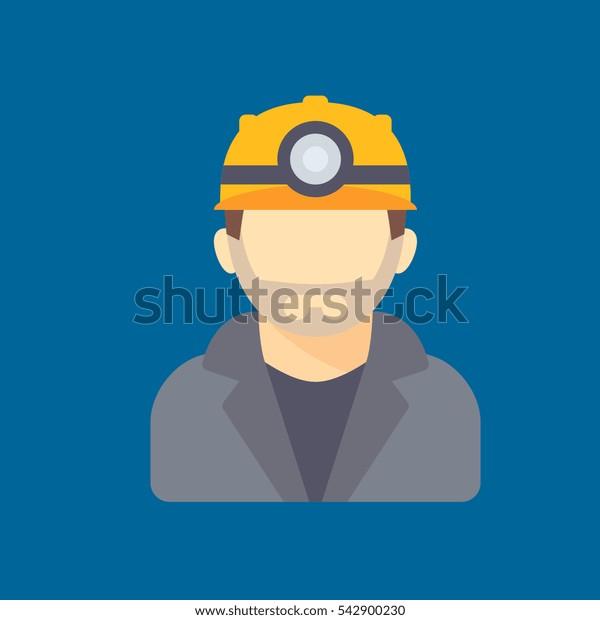 miner icon flat disign