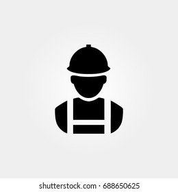 miner icon. vector sign symbol on white background