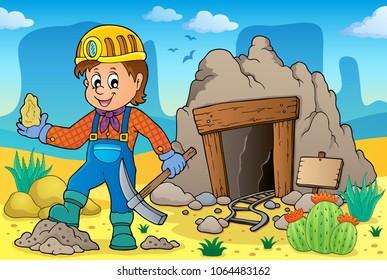 Miner theme image 2 - eps10 vector illustration.