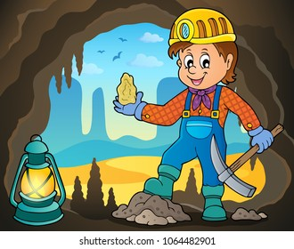 Miner theme image 4 - eps10 vector illustration.