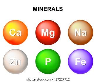 Mineral nutrients. Vector Illustration