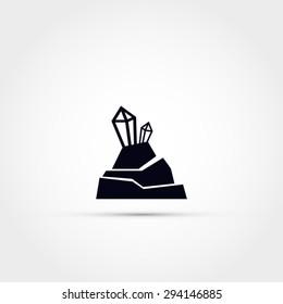 Mineral rock icon