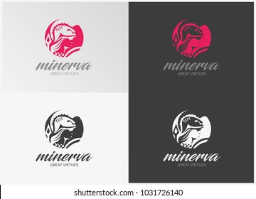 Minerva Roman Mythological Goddess - Business Logo Vector Template