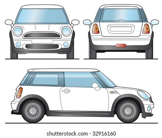 Mini Car Template - Layout for presentation - Vector