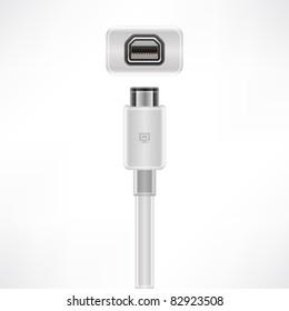 Mini Display Port plug & socket