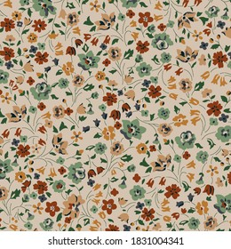 mini flower fabric pint with soft color