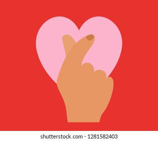 Mini Heart symbol Vector Illustration