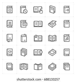 Mini Icon set - book icon vector illustration