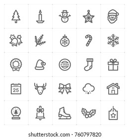 Mini Icon set – Christmas icon vector illustration. Design for Christmas and new year celebration.