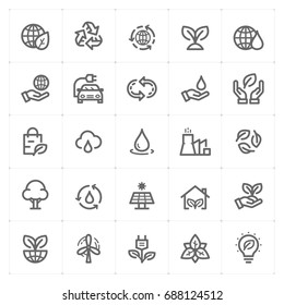 Mini Icon set - environment icon vector illustration