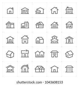 Mini Icon set - Home icon vector illustration