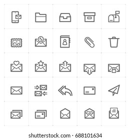 Mini Icon set - mail and letter icon vector illustration