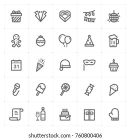 Mini Icon set – Party and celebrate icon vector illustration