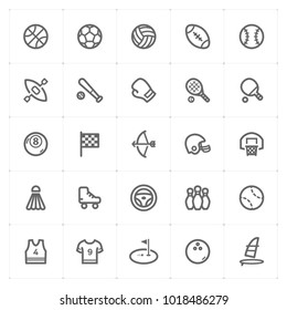 Mini Icon set – Sport icon vector illustration