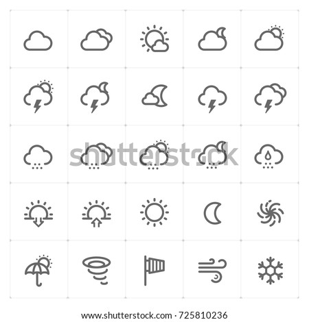 Mini Icon set – weather icon vector illustration