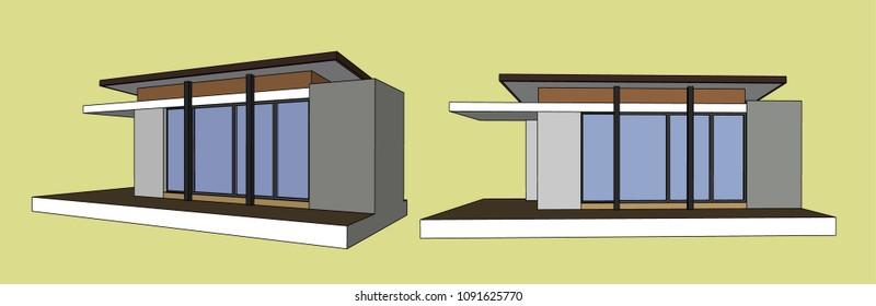 Mini mart Vector & Illustration