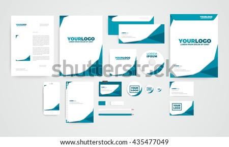стоковая векторная графика Mini Polygon Corporate Identity Template