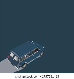 Mini van Austin Classic car