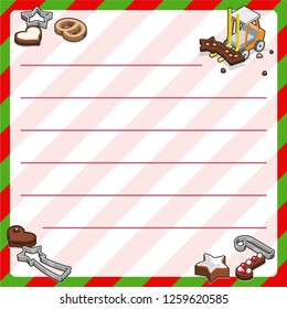 Miniature toy forklift carrying shooting star chocolate cookie; christmas bakery and cutters (template, framed and lined for your own text)