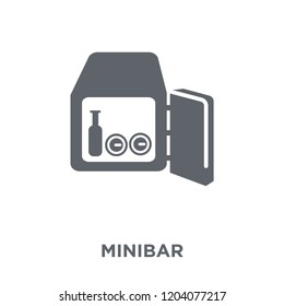 Minibar icon. Minibar design concept from Hotel collection. Simple element vector illustration on white background.