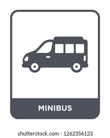 minibus icon vector on white background, minibus trendy filled icons from Transportation collection, minibus simple element illustration