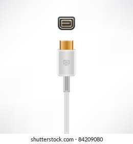 Mini-DVI plug & socket