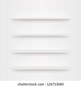 Minimal 3d bookshelf design vector