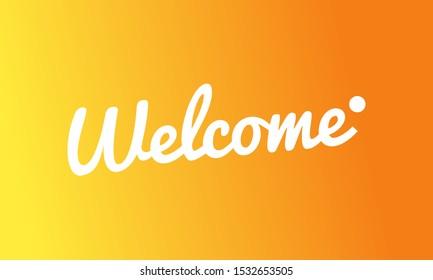 Minimal abstract background illustration. Orange gradient wallpaper design vector. Welcome typography banner. Hand drawn illustration