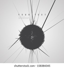 Minimal abstract black sphere design background  Eps 10 vector illustration