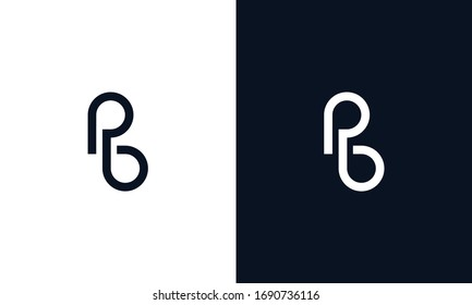 Minimal Abstract elegant line art letter PB logo.This logo icon incorporate with letter P and B in the creative way.