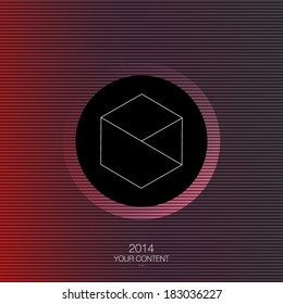 Minimal abstract vector design with your text eps10
