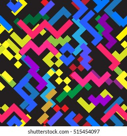 minimal background. Seamless pattern 80's - 90's years memphis design