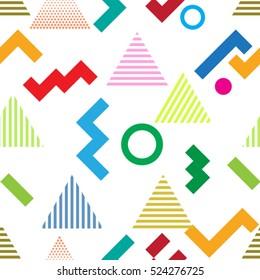 minimal background. Seamless pattern 80's - 90's years memphis design