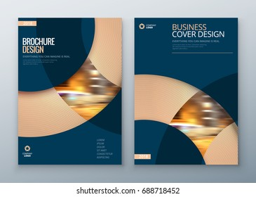 Minimal Brochure covers. Corporate business annual report, catalog, magazine, flyer mockup. Creative modern bright concept circle round shape
