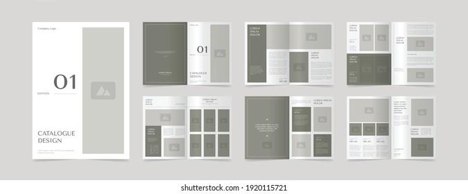 minimal catalogue layout design template