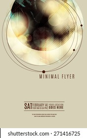 Minimal circle geometric flyer or poster template design