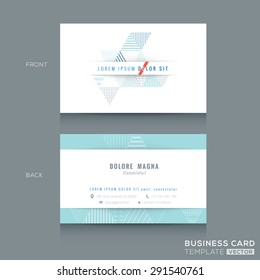 Minimal clean Abstract triangle stripe shape design business card Template