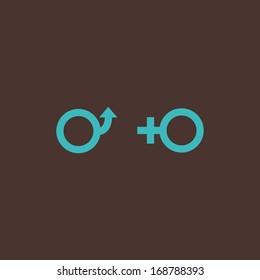 Minimal conceptual male and female symbols