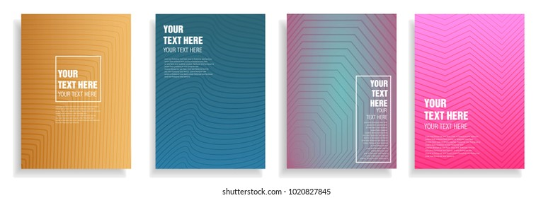 minimal cover design with dynamic colorful halftone gradient. vector template for magazine, brochure, leaflet, presentation in a4 size