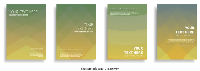 minimal cover design with dynamic colorful halftone gradient. vector template for brochure, banner, leaflet, flyer, magazine in a4 size