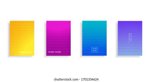 Diseño minimo de cubierta con patrones geométricos. Diseño colorido. Vector.